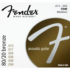 Fender 70M 80/20 Bronze Medium Acoustic Guitar Strings (13-56)