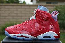 NIKE AIR JORDAN 6 RETRO VI X SLAM DUNK SZ 14 VARSITY TORO RED WHITE 717302 600