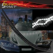 "18"" White Rubber LED Strip (2-piece) for Car Boat and Motorcycle & Parties"