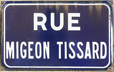 French enamel street sign plaque route rue migeon tissard saint-maure-de-touraine