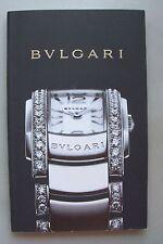 Bulgari Geschichte einer Uhr mit Preisliste 2007/2008 Uhren