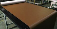 "5 YARDS WALNUT BROWN FAUX LEATHER AUTO UPHOLSTERY FABRIC VINYL 54""W PLEATHER"