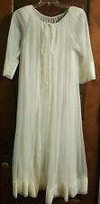 Vtg Peignoir Robe Nightgown Set Bridal Honeymoon Negligee Hollywood Glamour M