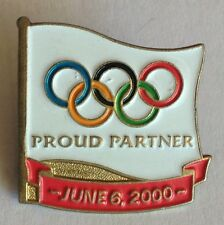 Olympics Flag Proud Partner 2000 Olympics Pin Badge Rare Vintage (F1)