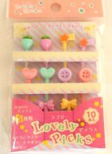 Japanese Lunch Box Bento Food  Picks Lovely 10pcs  KAWAII!!