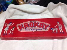 Vintage 1946 Gold Medal KROKAY and 5 Other Games by Transogram, Original Box
