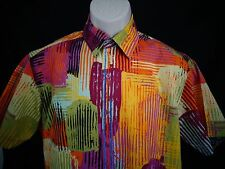 Robert Graham Multi colored Geometric Short Sleeve Shirt Mens M