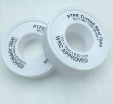 2 x PTFE WHITE THREAD SEAL TAPE 12mX12mm TEFLON PLUMBER PLUMBING JOINT WATER OIL