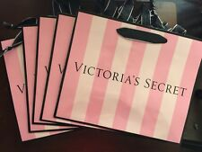 (5) VICTORIA'S SECRET PINK STRIPE MEDIUM SIZE PAPER SHOPPING GIFT BAG