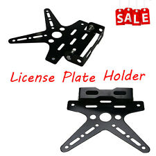 Adjustable Motorcycle Black Registration License Plate Holder Bracket Universal