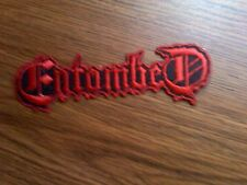 ENTOMBED,IRON ON RED EMBROIDERED PATCH