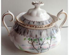 Royal Albert Silver Birch Large Covered Sugar Bowl