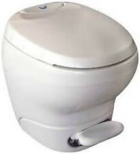 Thetford Bravura RV Camper Toilet High Profile Parchment Foot Flush 31083 31085
