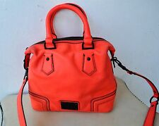 OROTON 1938 Neon Medium Barrel Leather Bag in Coral Sold Out 2013 Collection