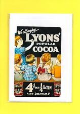 Lyon's Cocoa Retro Advert Greeting Card / Notelet (Blank inside) #410119
