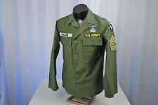 VIETNAM WAR U.S. ARMY 101st/25th DIVISION SERGEANT MAJOR'S UTILITY SHIRT - CIB &
