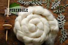 PERENDALE Undyed Ecru Combed Top Natural Wool Roving Spinning Felting 4 oz