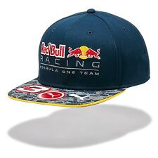 OFFICIAL Red Bull Racing F1 Daniel Ricciardo Flat Brim Driver Cap - NEW