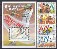 Olympiade 1992, Olympic Games - Jungferninseln - 702-705, Bl.66 ** MNH