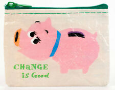 "Blue Q ""Change is Good"" novelty coin purse piggie bank recycled Takao Nakagawa"