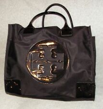 Tori Burch Nylon Large Ella Black/gold Tote Bag    NWOT