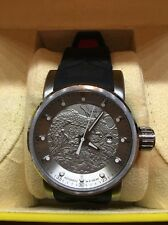 Men's INVICTA Yakuza Silver Dragon Automatic WATCH 15862 Black & Red Strap