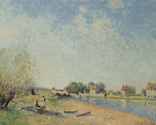 The Canal Du Loing At Saint Mammes  Alfred  Sisley  24'  CANVAS