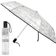 pierre cardin Damen-Regenschirm -transparent- Taschenschirm auf-zu-automatic neu