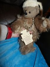 "BNWT HANDMADE LOU LOU COLLECTORS BEAR FULLY JOINTED MOHAIR LEAD PELLET 12"" LTD"