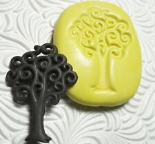 Silicone Resin Fondant FIMO Polymer Metal Clay Flexible Push Mold SWIRL TREE 601