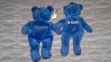 2 WWF THE ROCK BEANIE BABIES  KNOW YOUR ROLE  CAN YOU SMELL WHAT THE ROCK IS