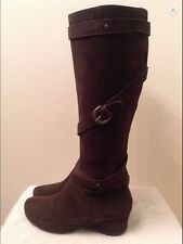 ME TOO 6M Brown Genuine Leather Suede Knee High Boots EUC
