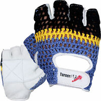 TurnerMAX LEATHER Weight lifting Gloves Body building Gym Training Exercise New
