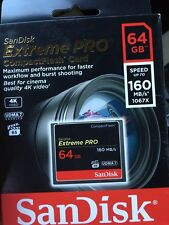 SanDisk Extreme Pro 64 GB CF CompactFlash Card HD VIDEO 160MB/s* UDMA 7 1067x