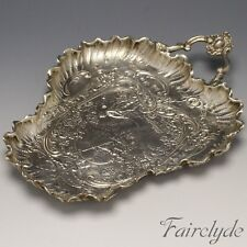 Rare Simon Rosenau Antique German Art Nouveau Silver Leaf Pin Ring Tray Dish