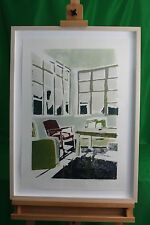 ORIGINAL OIL PASTEL IMPRESSIONISTIC PAINTING  THE RED CHAIR BY JODIE MOHR