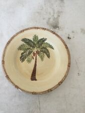 "Home Trends 8"" Palm Tree Dessert Plate"