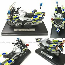 Welly BMW 1/18 official Original HK Traffic Police Motorcycle Model Green Yellow