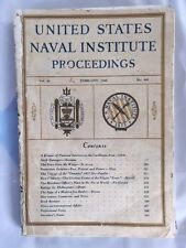 Pre-World War 2 (WWII) Collectible Feb 1940 U.S. Naval Institute Proceedings