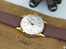 Vintage Wakmann Chronograph Gold P 17 Jewel Valjoux 7730 FRENCH Watch Breitling