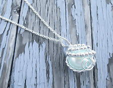 Final Fantasy, FF7 Materia Necklace, Materia Necklace, FF7, Arctic Blue