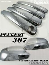 ENJOLIVEUR CACHES CHROME COQUES RETROVISEURS + POIGNEES PEUGEOT 307 307CC CC SW