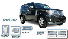 Chrome Door Handles, Mirrors Covers, Tail Lights, Grille Overlay for Dodge Nitro