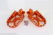 AIRTIME BILLET CNC WIDE FAT FOOT PEGS  FOR KTM 65 SX  (2002 -2017)-ORANGE