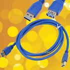 5 FT 1.5m USB 3.0 A Male Plug To USB A Female Socket Extension Cable Cord EMI