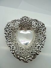 HM Chantilly Reticulated Sterling Silver Heart Trinket Dish    ~16.3g~