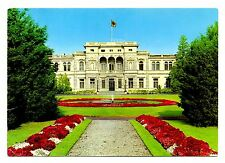Bonn Villa Hammerschmidt Postcard Germany Flag President Fountain Flowers Vtg
