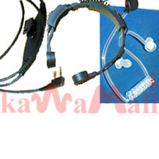 Tactical Heavy Duty Throat Microphone for Kenwood TK TH Wouxun Baofeng Radios