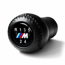 BMW MTECH 5 SPEED GEAR SHIFT KNOB E60 E90 E92 E91 E46 M3 M5 M6 LEATHER NEW