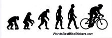 Bike Evolution - Magnetic Small Bicycling Bumper Sticker / Decal Magnet